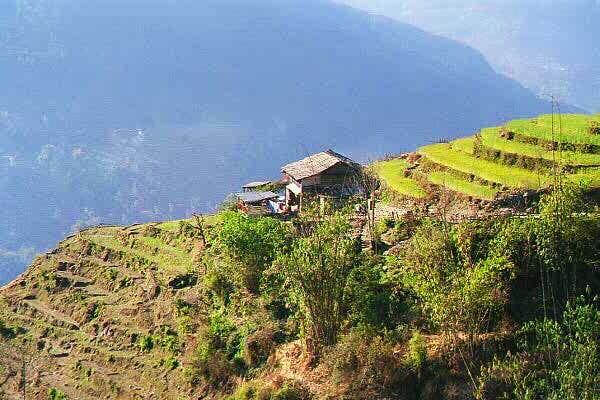 A typical Gurung house seen...