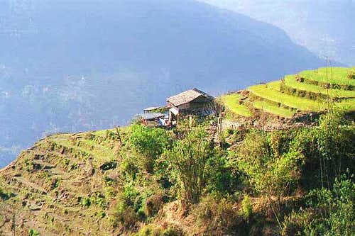 A typical Gurung house seen...