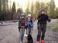 Amy, Sarah, Andy at Trampas Lakes TH