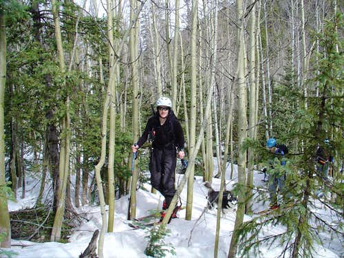 North Chute of Jicarilla Peak, or Our Worst Backcountry Ski Day So Far