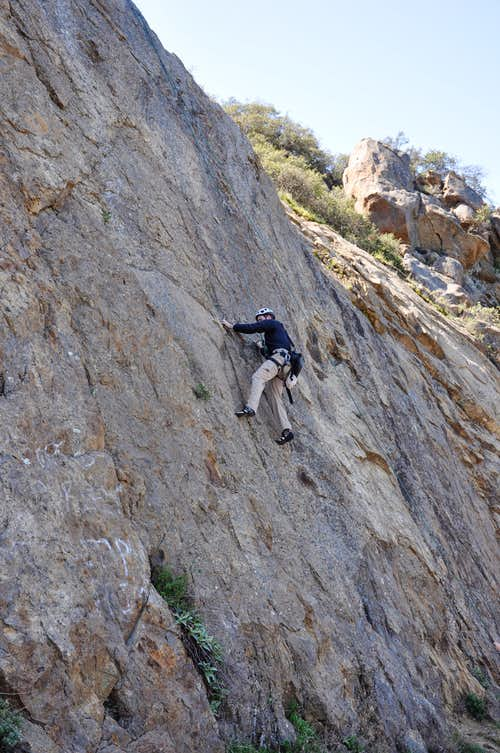 Climber on Crag Full of Dynamite