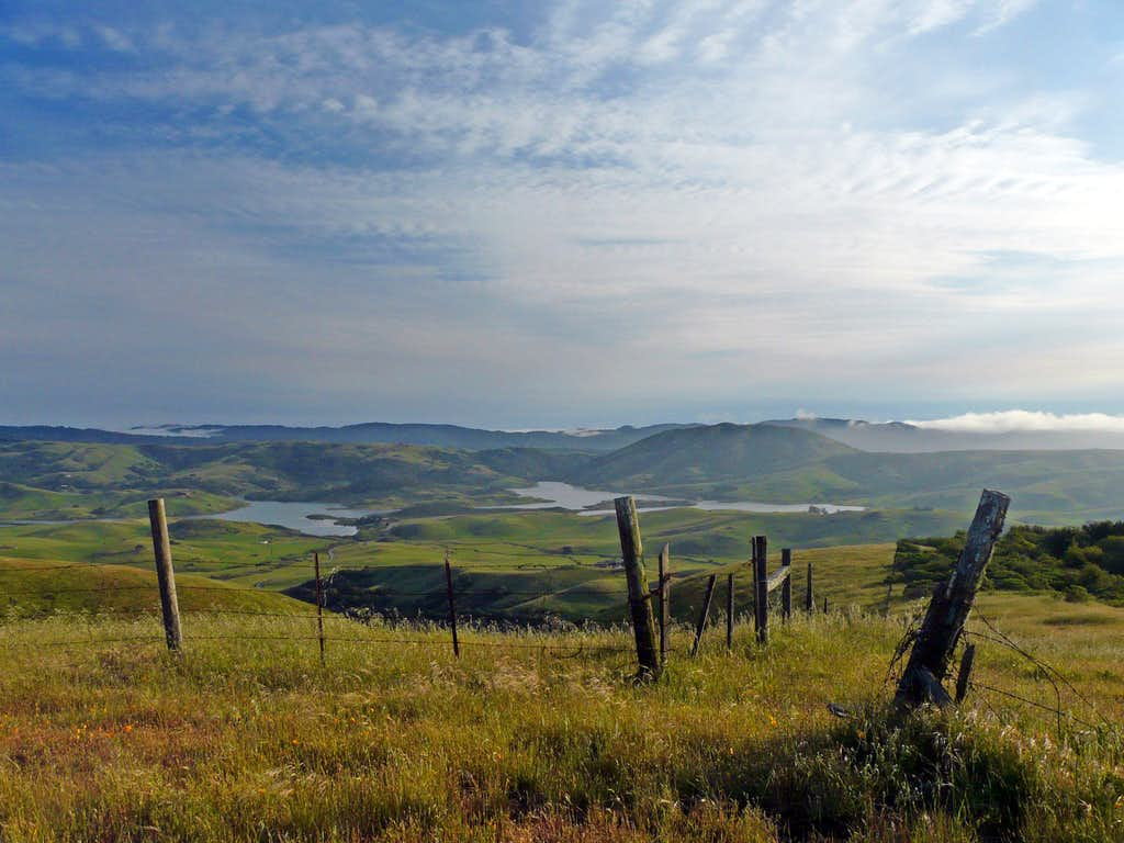Nicasio Reservoir from Hicks Mtn.