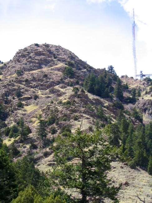 The ridge leading up directly...
