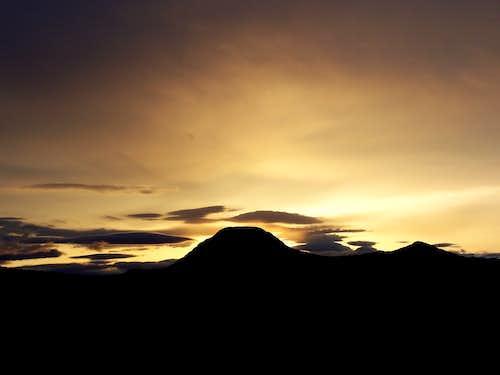 Flagstaff Butte at sunset
