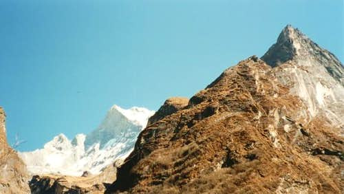 Machhupuchhre (left) from...