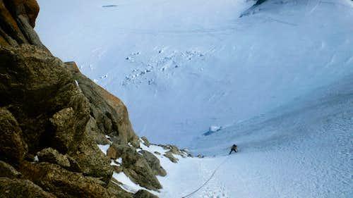 Steep snow on the Triangle du Tucal