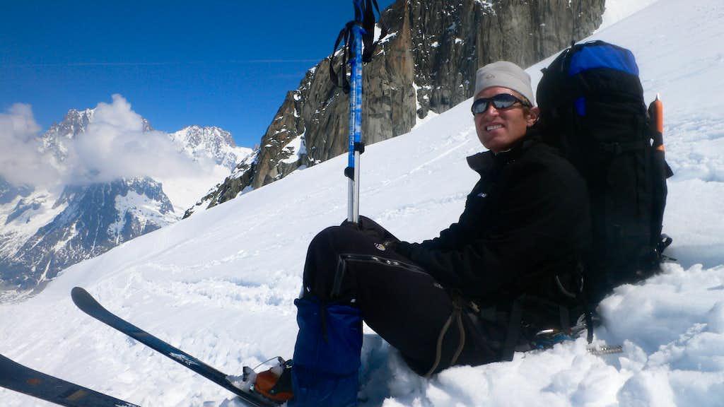 Dan on the ski down