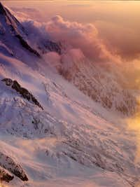 Sunset on Mont Blanc