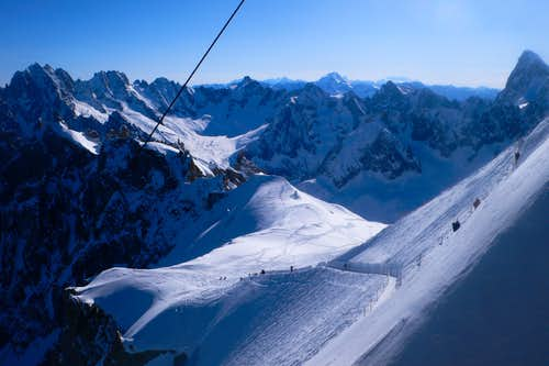 From the Aiguille du Midi