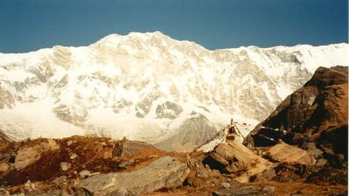 Annapurna I from the...