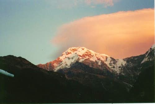 Sunset on Annapurna South...