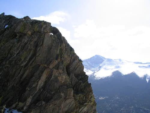 Longs Peak as seen from the...