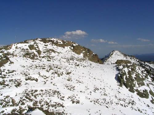 The Twin SIsters Peaks...