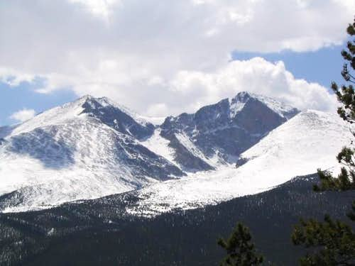 Longs Peak as seen from the...