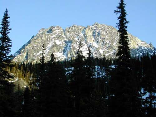 As seen from the trail into...