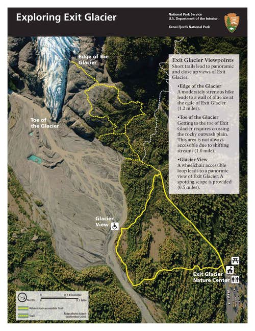 Exit Glacier lower map