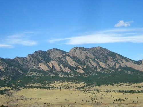 South Boulder Peak (left) and...