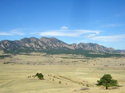 (L to R): South Boulder Peak,...
