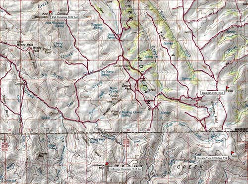 Map of South Trout Creek Area