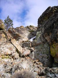 chute to the summit route