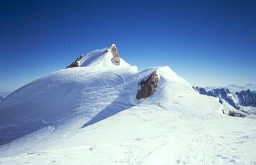 Mont Maudit seen from the col...