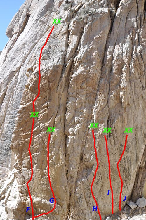 Routes of the left side, Gecko Wall