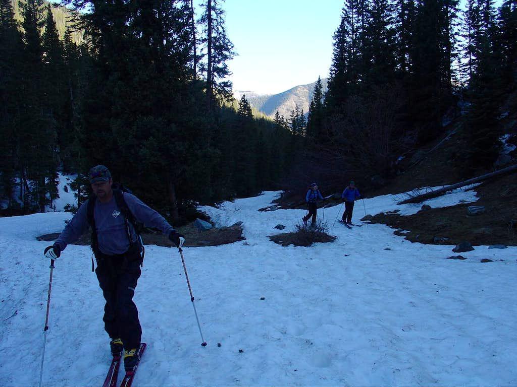 Skinning the Williams Lake trail