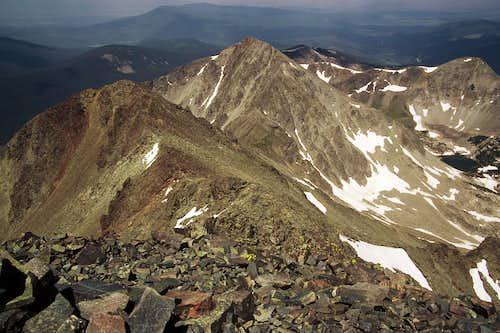 Mount Mahler from Mount Richthofen