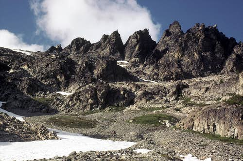 Climbing up Seven Fingered Jack