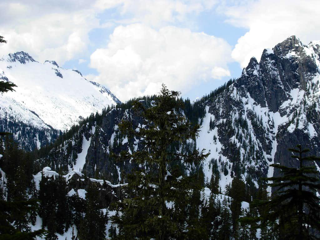 Spire Mountain and Bear Mountain