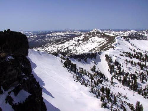 Basin Peak as seen from the...