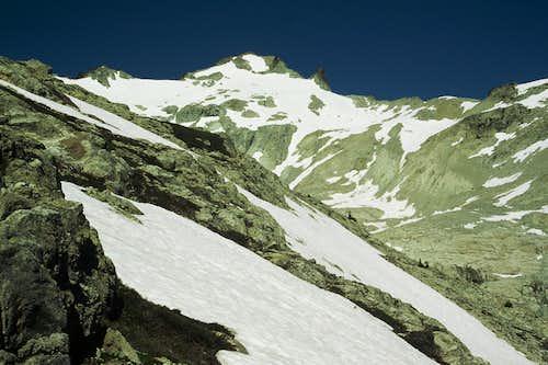 Looking up Hyas Creek Glacier