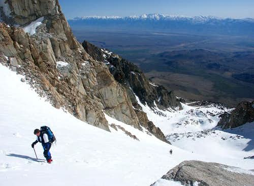 Half way up East Couloir of...