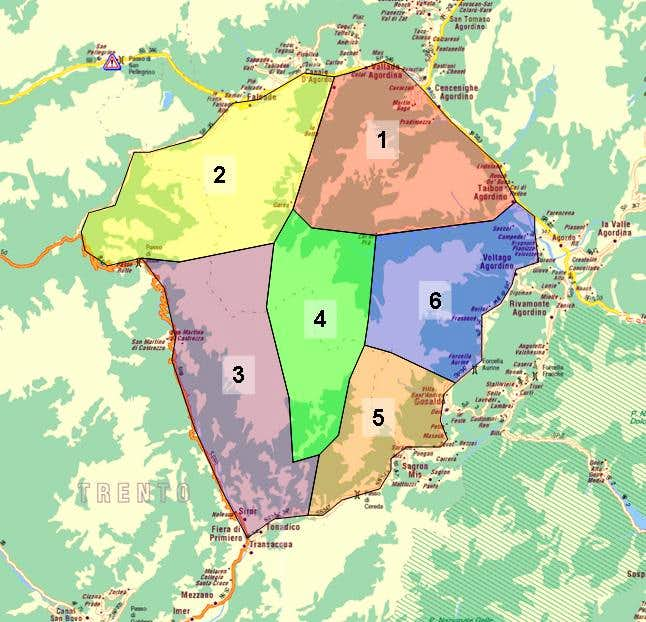 Map of the Pale di San...