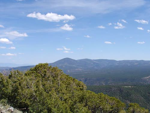 Jemez Mountains from Cerro Pedernal