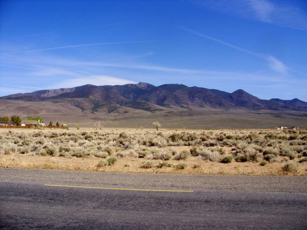 Rawe Peak massif from Dayton