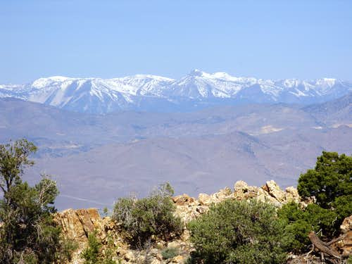 Mount Rose and the Carson Range from Rawe Peak