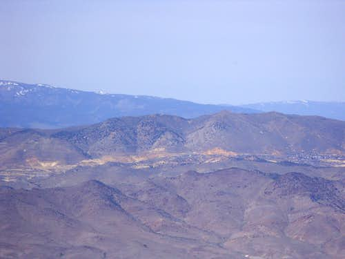 Virginia City and Mount Davidson from Rawe Peak