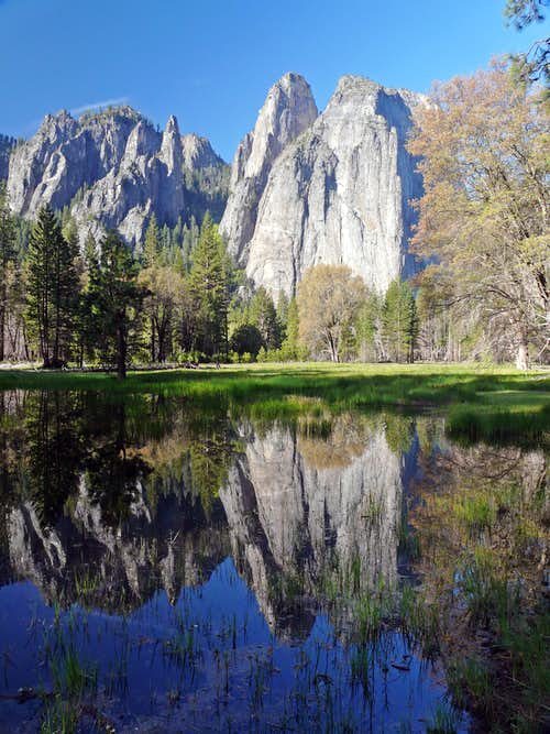 Cathedral Spires and Rocks reflection