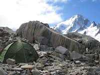 Camping near Albert Premier hut