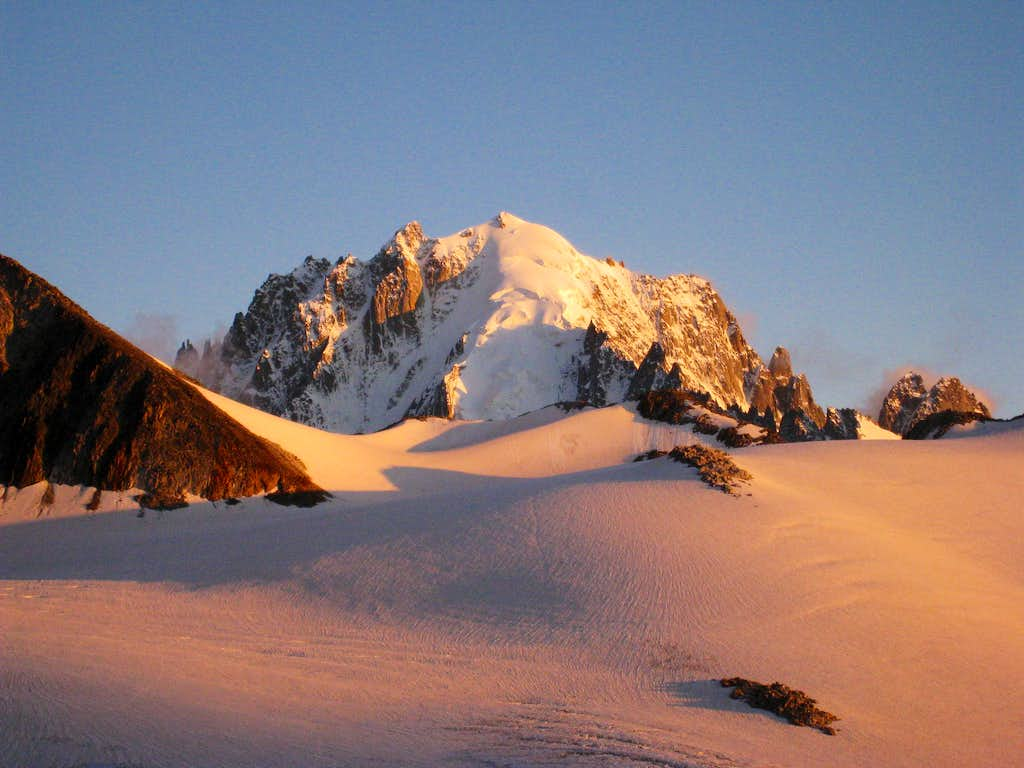 Sunset on Aiguille Verte