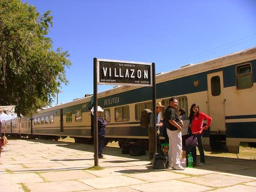 Train from Villazon to Oruro, Bolivia