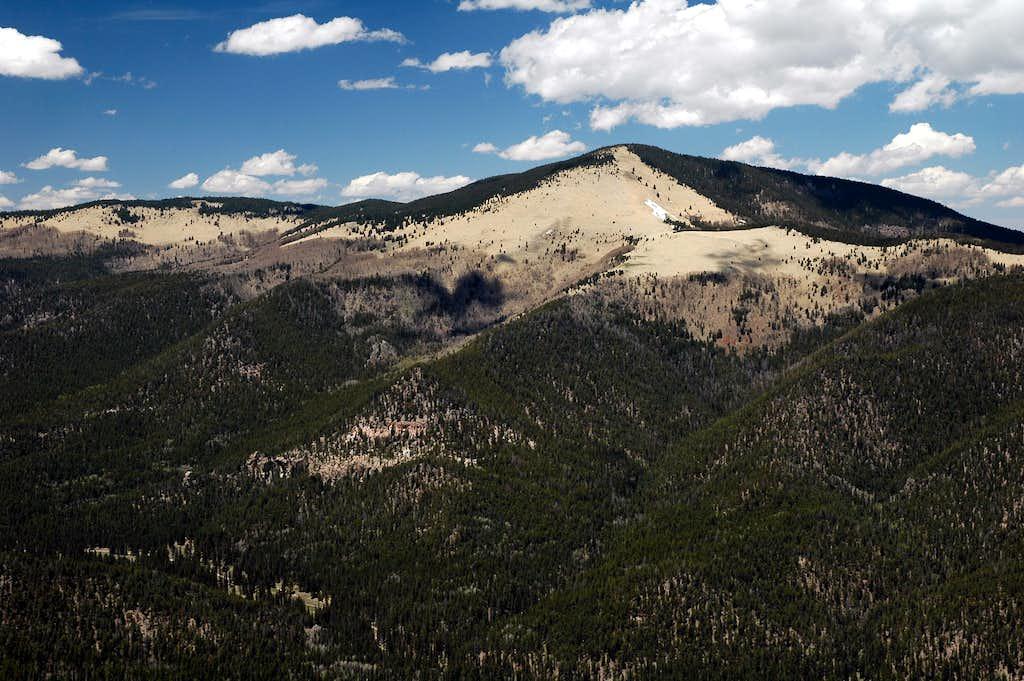 Chicoma Mountain from Caballo Mountain