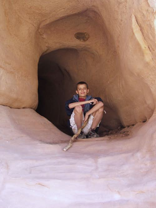 Evan in The Tunnel