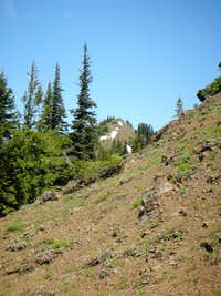 Summit of Kachess Ridge in distance