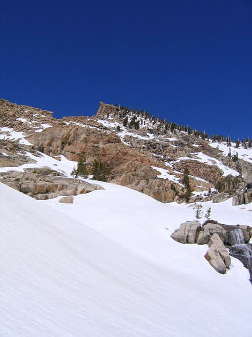 First view of the summit