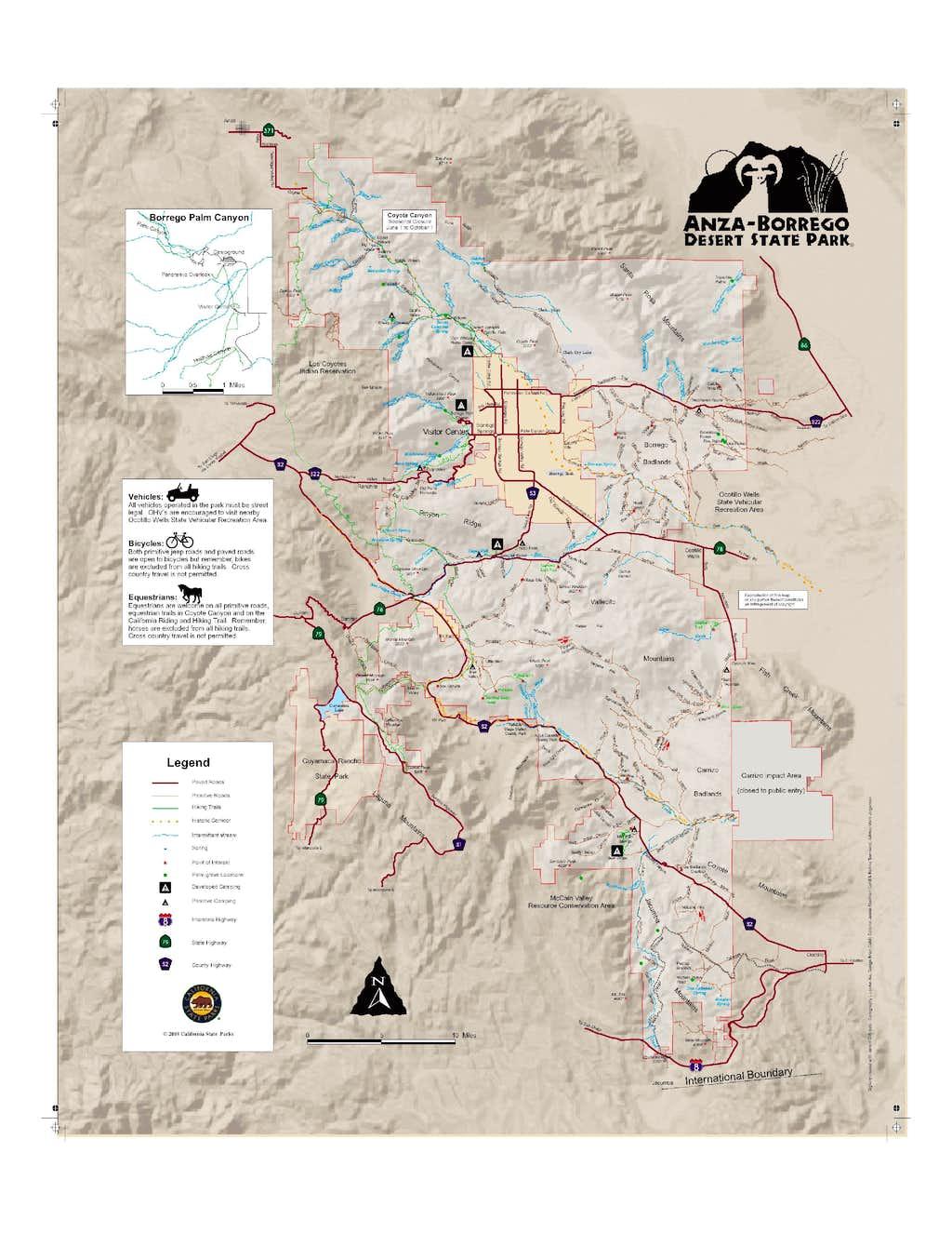 Anza Borrego Map Photos Diagrams Topos SummitPost