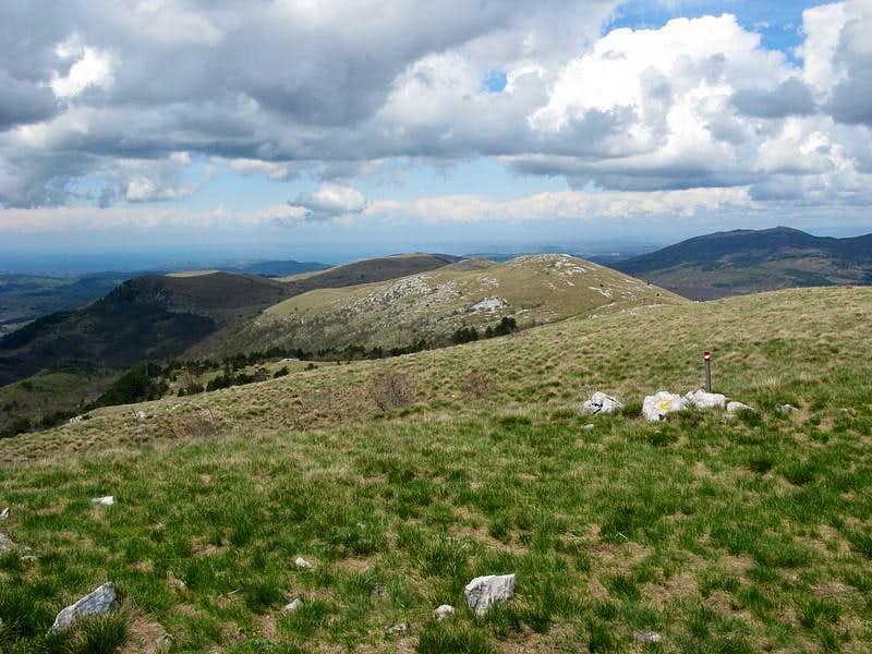 Žbevnica summit W view