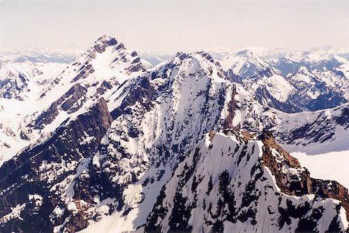 Looking south to Sperry Peak...