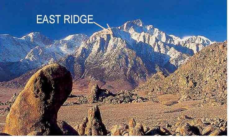 East Ridge of Lone Pine Peak